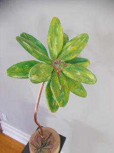 Emerald Flower Sculpture