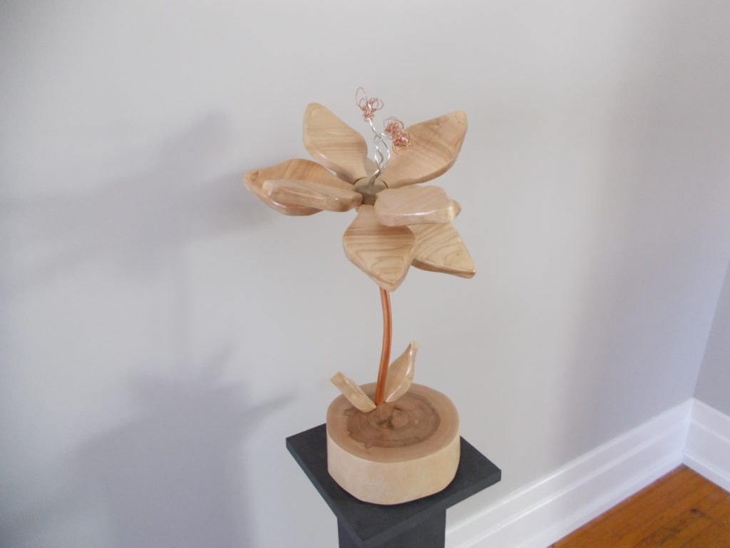 Nude Maple Flower Sculpture