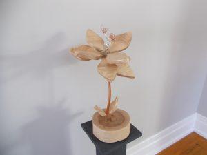 Nude Maple Flower Sculpture