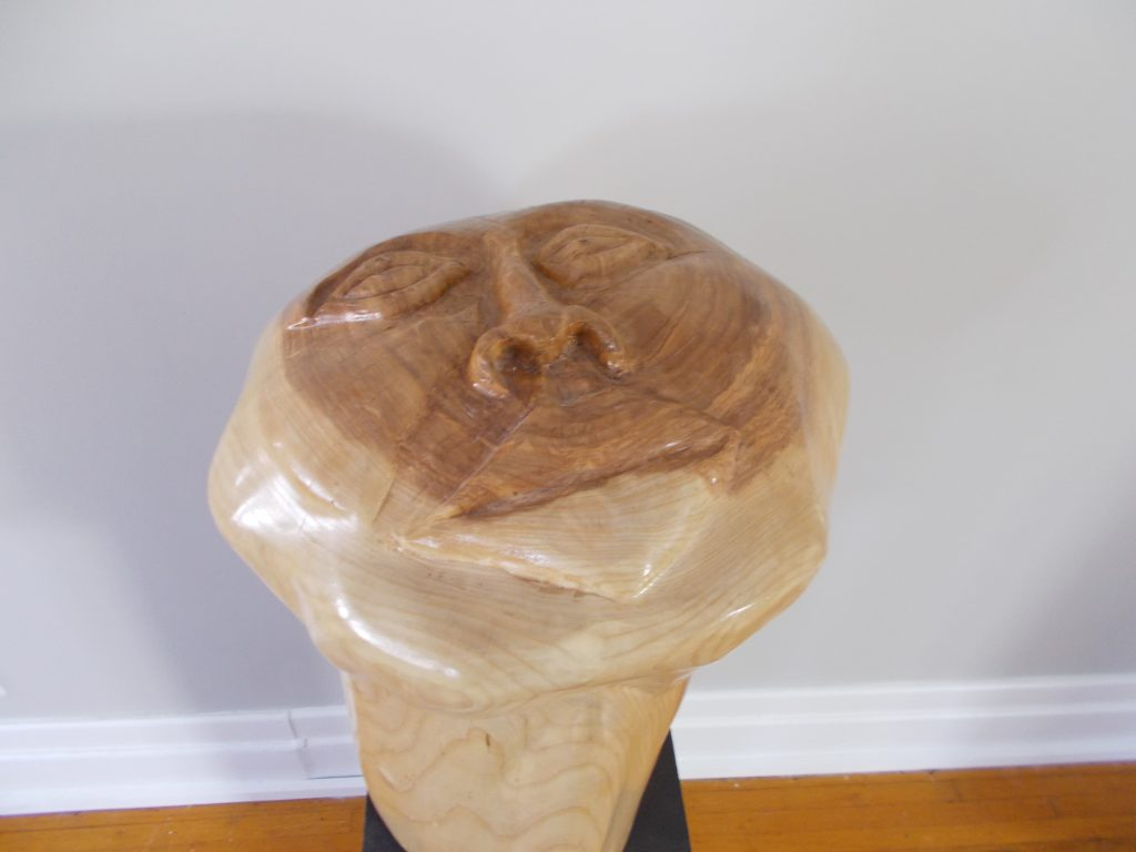 Strength Wood Sculpture