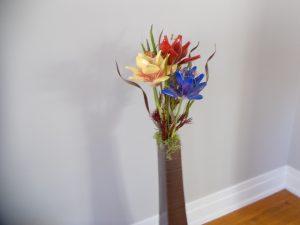 Trilogy Flower Sculpture